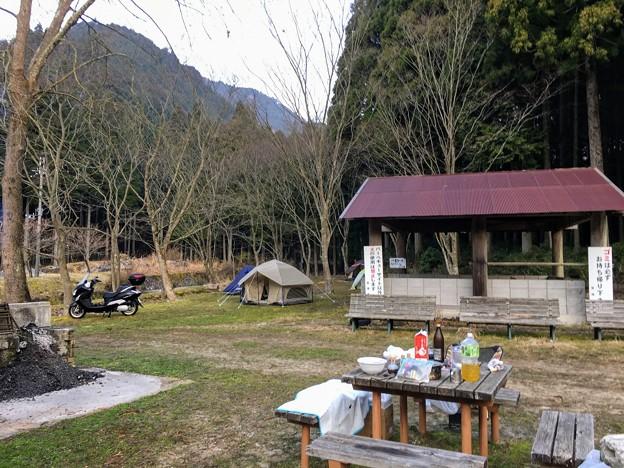 三国山公園鳥羽キャンプ場の朝
