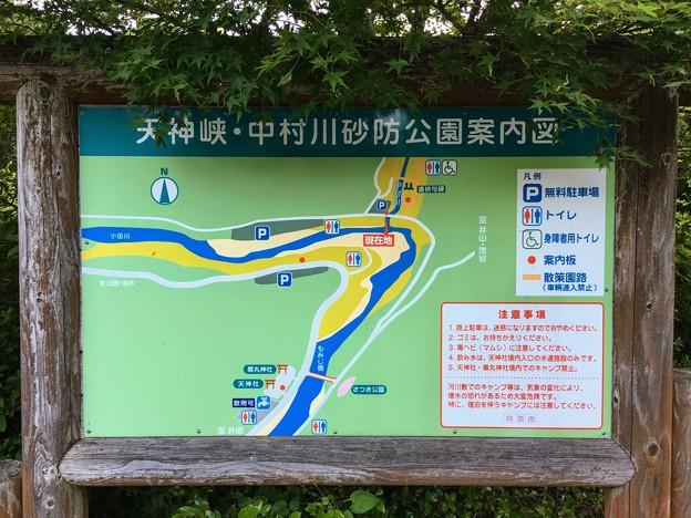 天神峡・中村川砂防公園案内図
