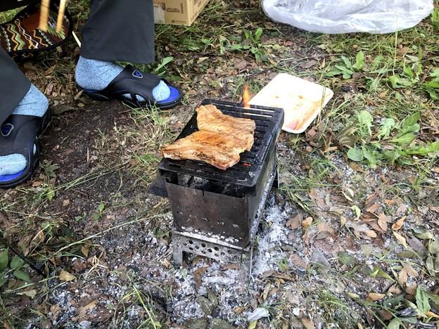 朝から豚バラのかば焼き