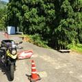 西日本豪雨災害の爪痕が残る広域基幹林道