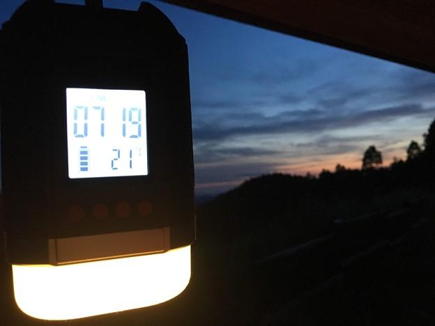 夕方の気温は21℃