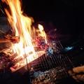 Photos: 焚火で遠山ジンギス