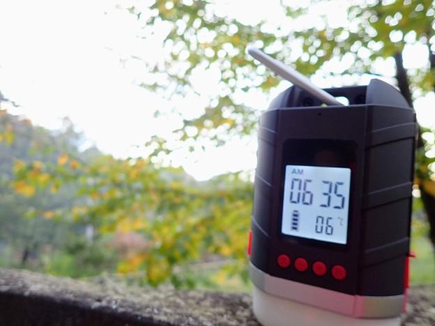 Photos: 朝の気温
