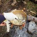 朝は鍋焼きうどん