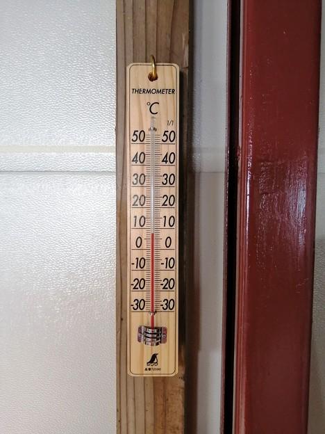 氷ノ山山頂の気温 8℃弱