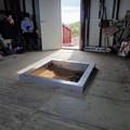 山頂避難小屋の囲炉裏が新調されていました