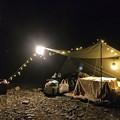 薪ストーブとコタツでキャンプ