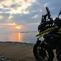 丸山海岸の日の出
