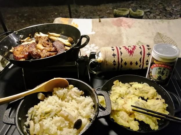 Photos: キャンプ飯(夕飯)