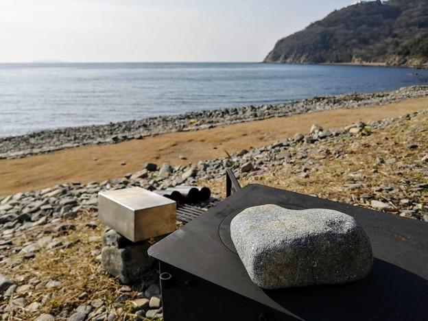 Photos: ハート形の石