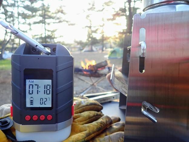 朝の気温 2℃
