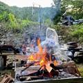 Photos: 火遊びスタート
