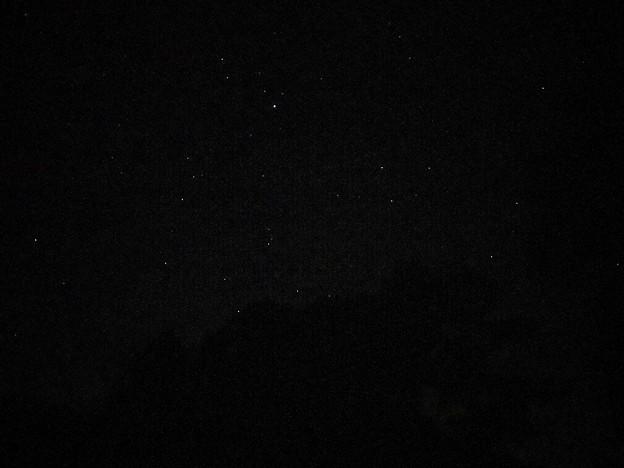 キャンプ場の星空