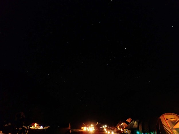 キャンプ場夜景