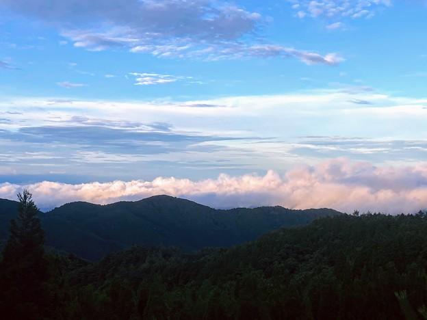 色付き始めた雲海