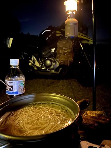 夕飯は温かいにゅう麺
