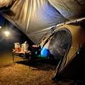Photos: タープの中に小さいテントを設営