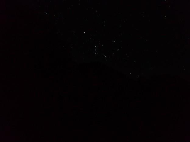 満天の星空(オリオン座)
