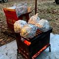 Photos: おやつは焼きジャガイモ