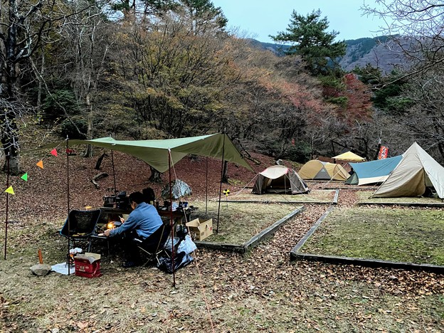 今までで一番混んでる後山キャンプ場