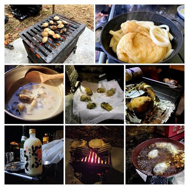 後山のキャンプ飯