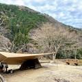 Photos: 雨に備えて大き目なタープを設営