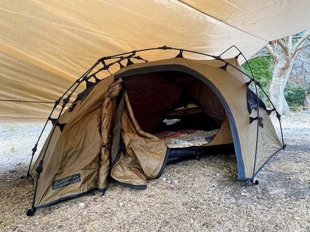 Photos: 今回はクイックキャンプのワンタッチテント