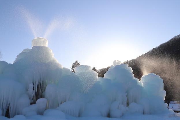 氷のシャワー