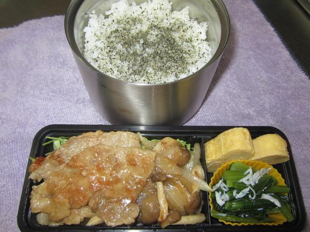 生姜焼き弁当 28May Mon.