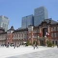 写真: 東京駅・駅前広場の北側ぞ臨む