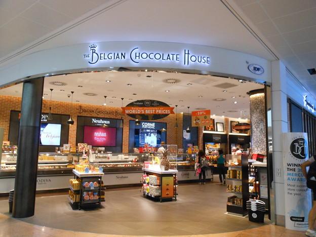ブリュッセル空港の中のチョコレートショップ