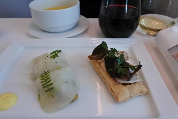 ANA・ヨーロッパ線*ビジネスクラスの食事2