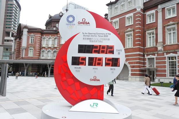 東京オリンピックをカウントダウン@東京駅