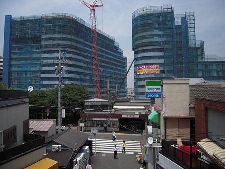 建設中のヴィークステージ北千住(2008/7)