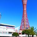 青空に映える神戸ポートタワー