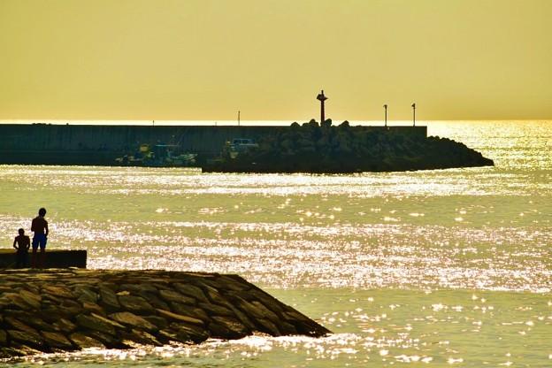 海のキラキラ