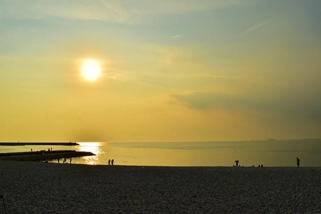 関西国際空港の見えるビーチ