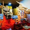 写真: 大船鉾 木彫りの龍頭