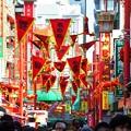 Photos: 春節祭で賑わいをみせる南京町