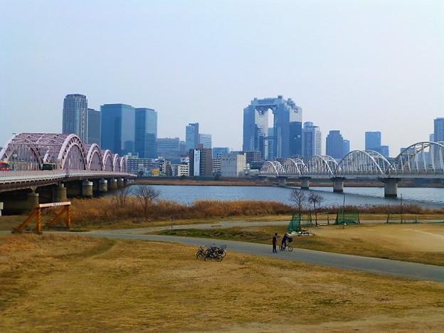 淀川河川敷にてRUN
