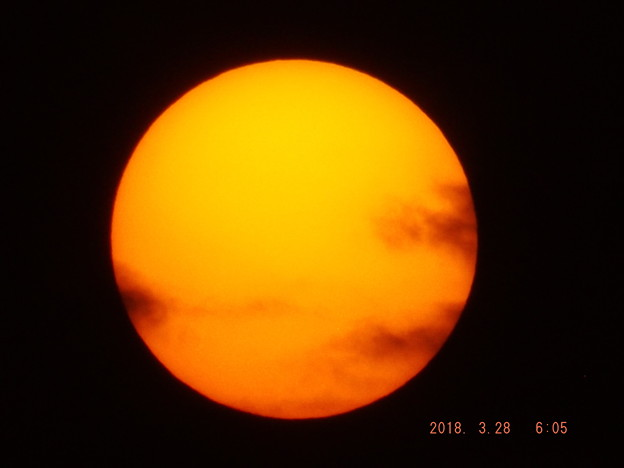 2018/03/28(水)の朝陽