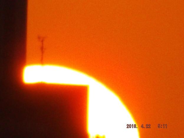 2018/04/22(日)の朝陽・1