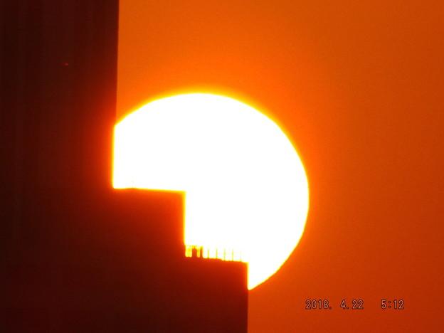 写真: 2018/04/22(日)の朝陽・4