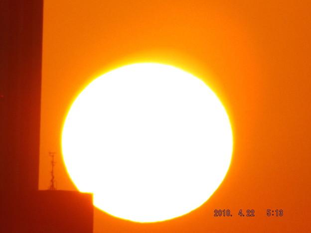 2018/04/22(日)の朝陽・8