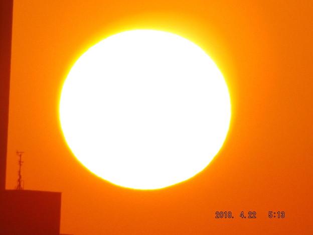 写真: 2018/04/22(日)の朝陽・9
