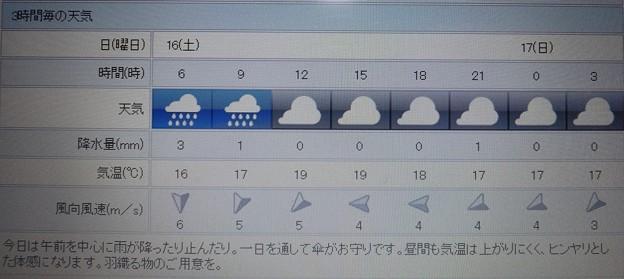 2018/06/16(土)・地元のお天気予報図