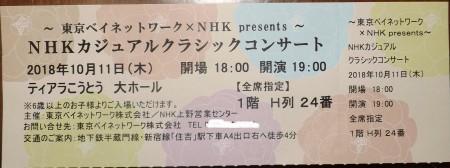 2018/10/11(木)・チケット