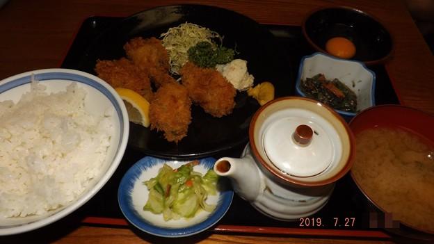 2019/07/27(土)・カキフライ定食