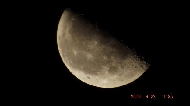 2019/09/22(日)のお月様