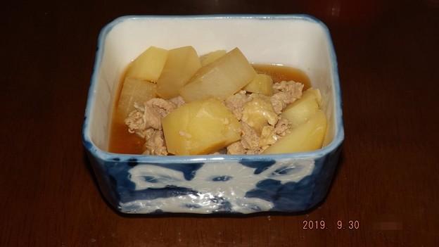 2019/09/30(月)・ほっくりこっくり☆じゃがいもと大根の味噌煮